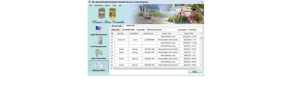 Display Audit Trail Records by PC/Web 2-in-1 Program
