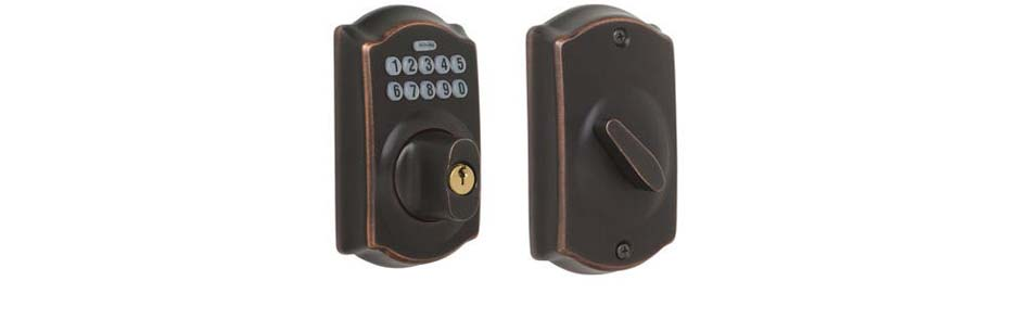 eRL-BE365CB Deadbolt Lock in Aged Bronze Finish