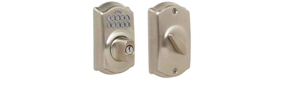 eRL-BE365CS Deadbolt Lock in Satin Nickel Finish
